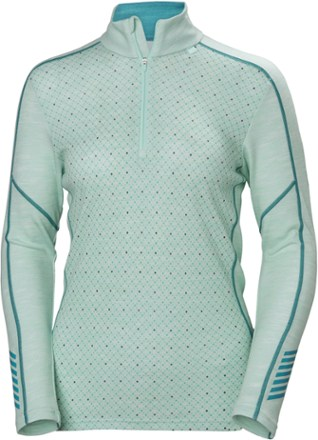 Helly Hansen HH Lifa merino Graphic 1/2-Zip Base Layer Top - Women's